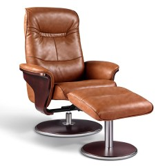 Leather Swivel Recliner Chair And Ottoman Revolving Autocad Block Artiva Usa Milano