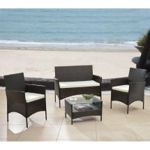 Madison Home Usa 4 Piece Patio Deep Seating Group With