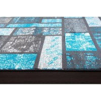 Persian-rugs Tobis Modern Turquoise Area Rug & Reviews ...