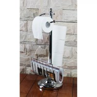 Hopeful Enterprise Toilet Paper Holder with Magazine Rack ...