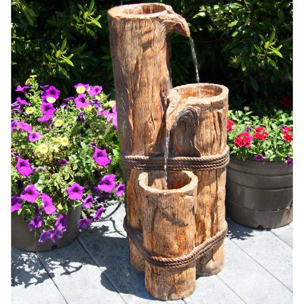 Beckett Cascading Logs Fountain &