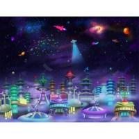Wallhogs Space City Wall Mural | Wayfair