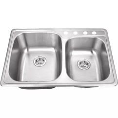 Stainless Steel Kitchen Sinks 33 X 22 Farm Decor Soleil Quot Drop In Double Bowl