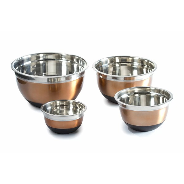 Imperial Home 4 Piece Stainless Steel Mixing Bowls Set
