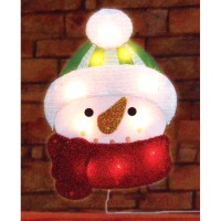 Northlight Lighted Tinsel Snowman Christmas Window ...