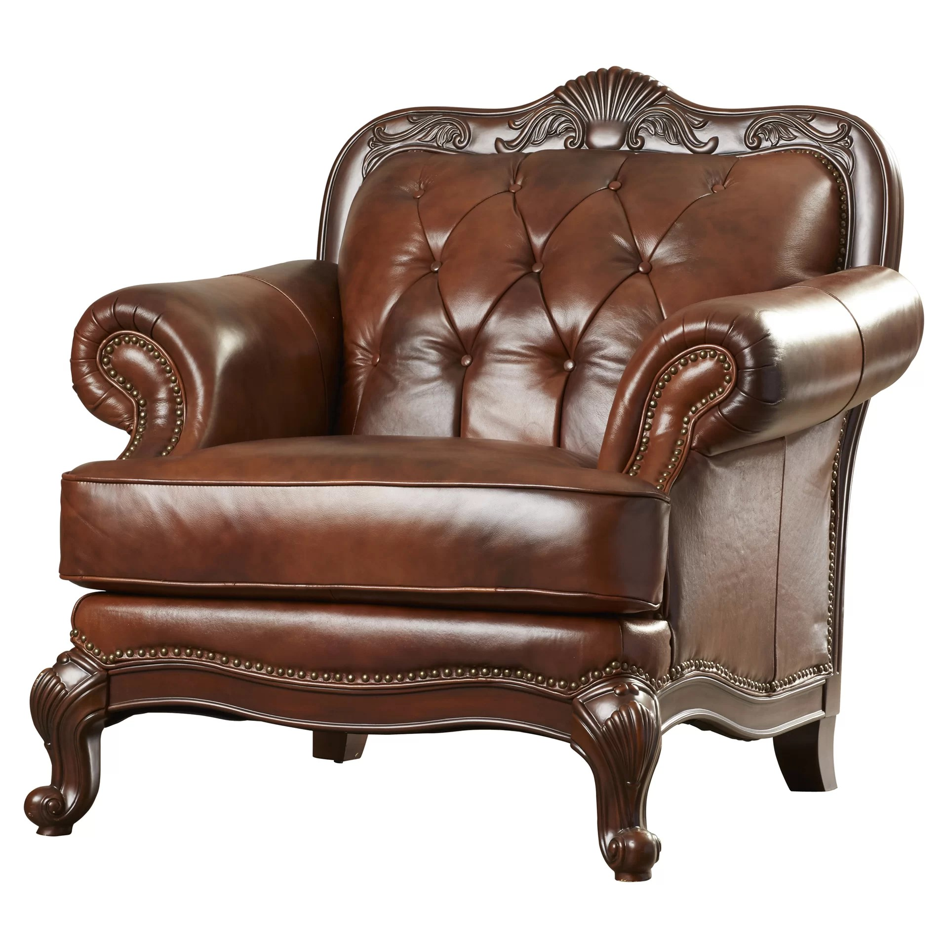 Club Chair Leather Darby Home Co Smith Leather Club Chair And Reviews Wayfair