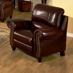 Reclining Arm Chair Best Lumbar Support For Darby Home Co Kahle Leather Recliner And Reviews