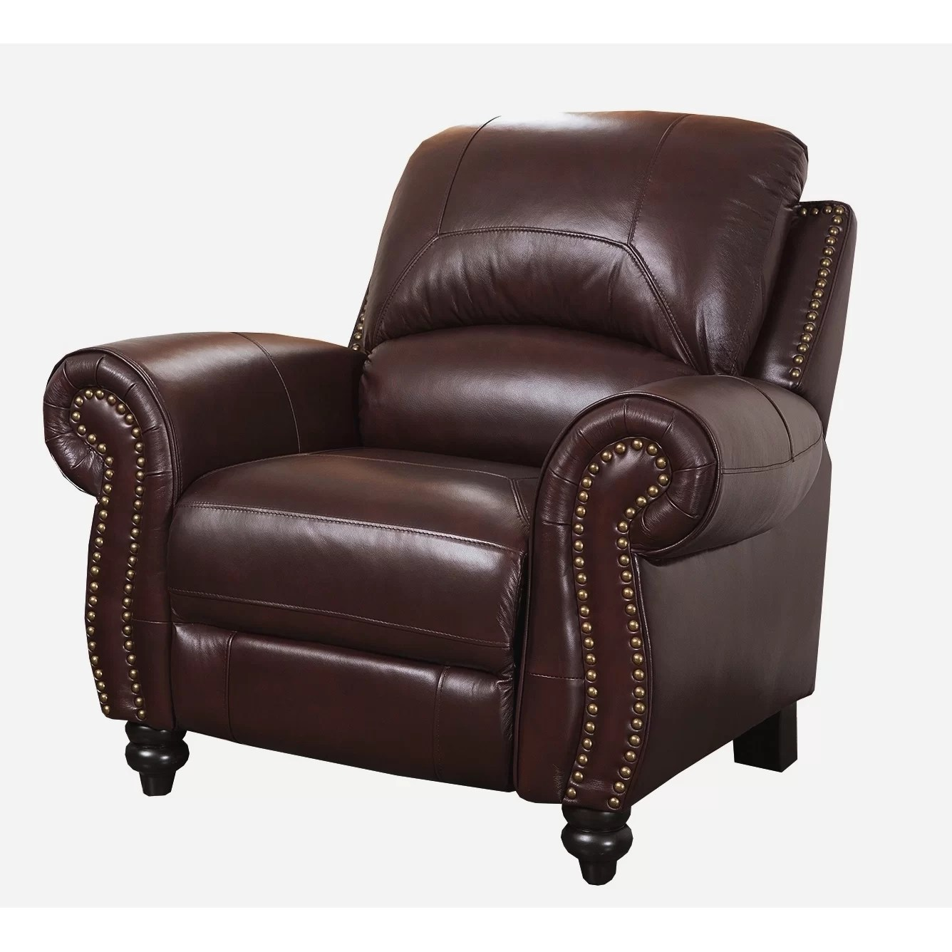 reclining arm chair panton review darby home co kahle leather recliner and reviews