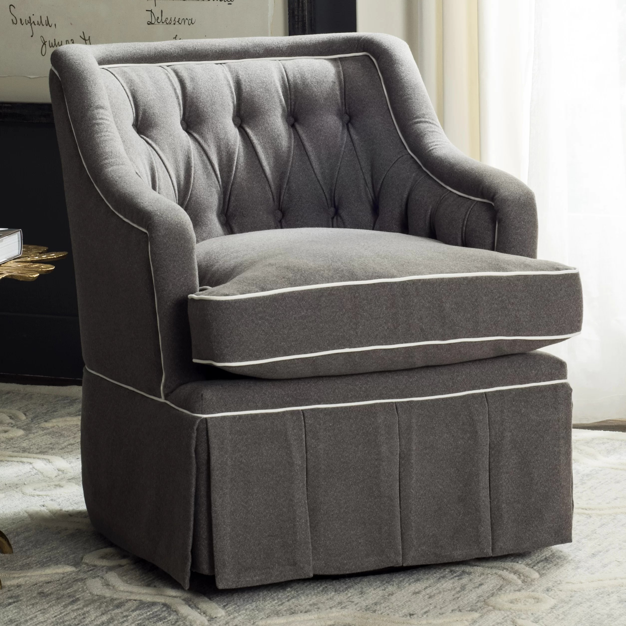 Darby Home Co Knepper Swivel Club Chair & Reviews