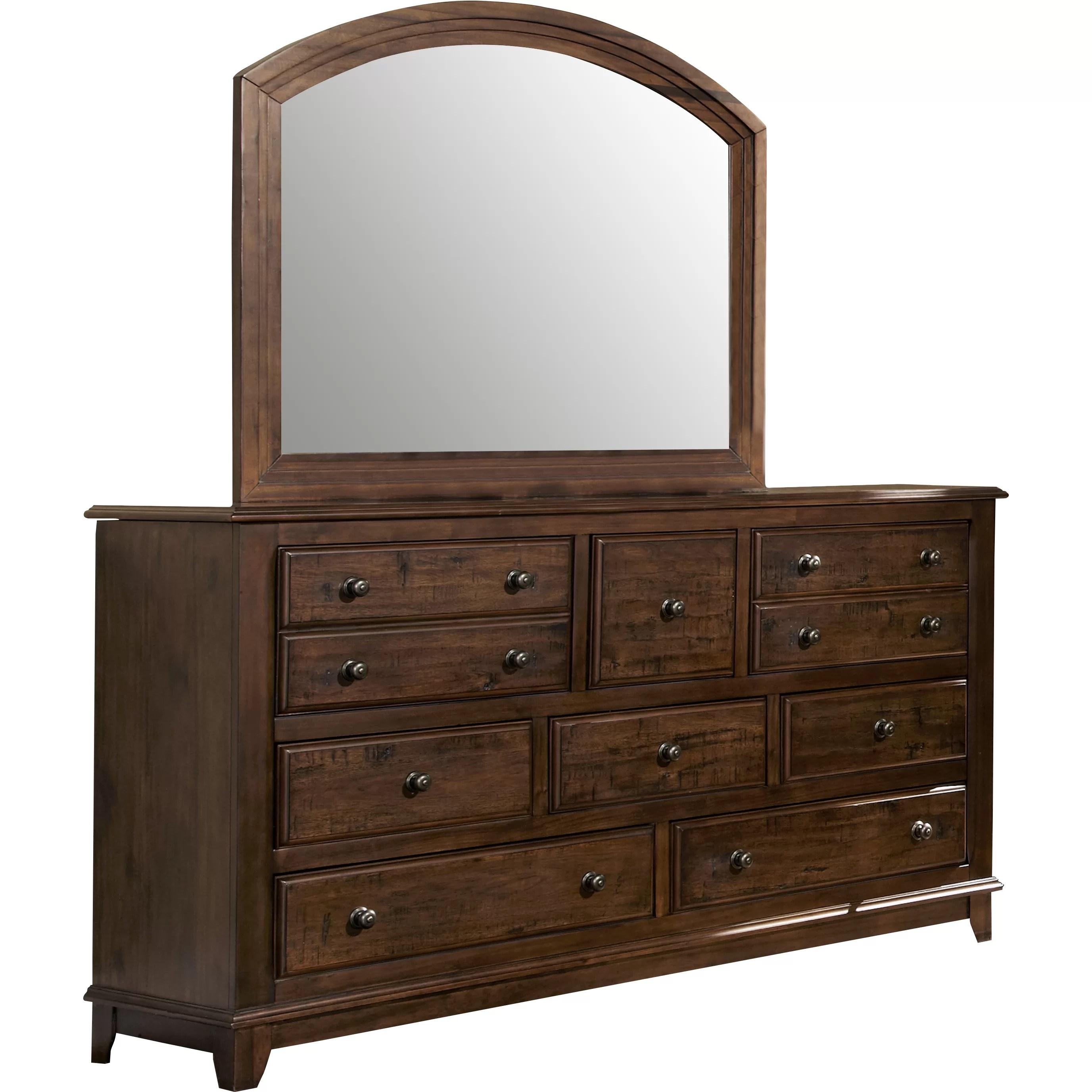 Darby Home Co Newbury 8 Drawer Dresser with Mirror  Reviews  Wayfair