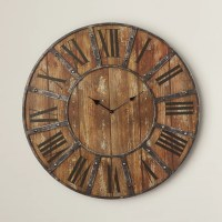 "Darby Home Co Oversized 24"" Metal Wall Clock & Reviews"