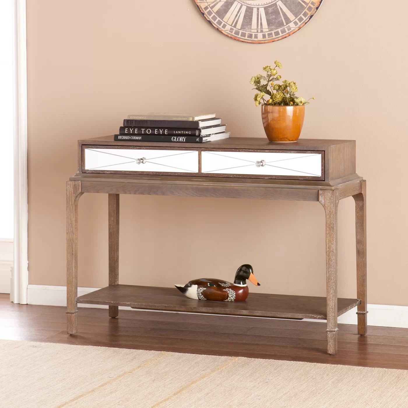 Darby Home Co Arnault Console Table and Mirror Set
