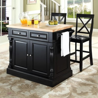 Darby Home Co Lewistown 3 Piece Kitchen Island Set with ...
