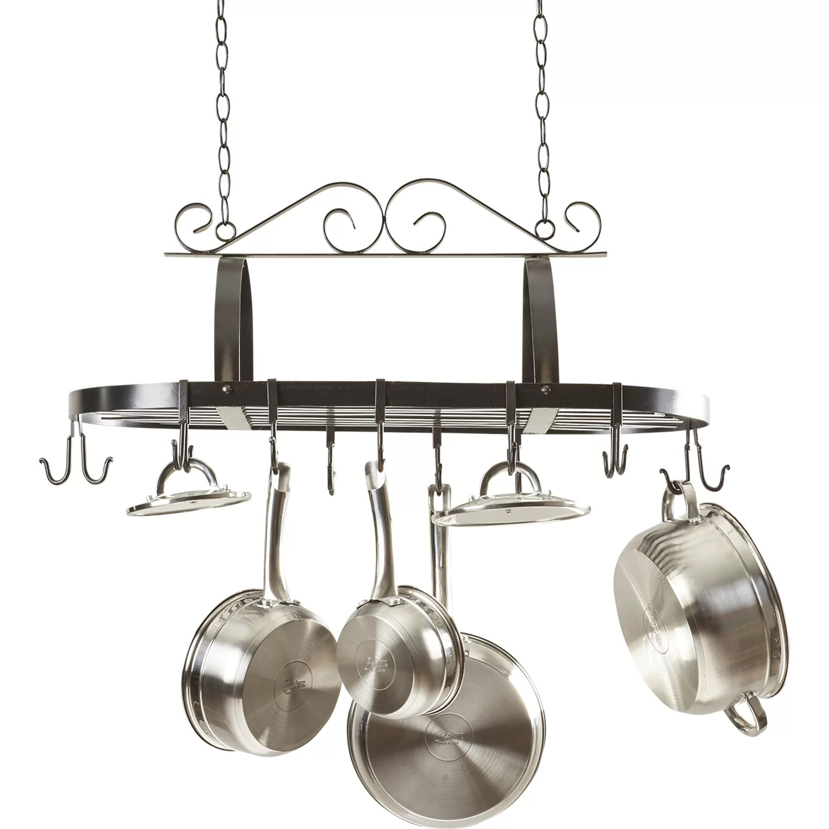 Darby Home Co Kitchen Hanging Pot Rack  Reviews  Wayfair