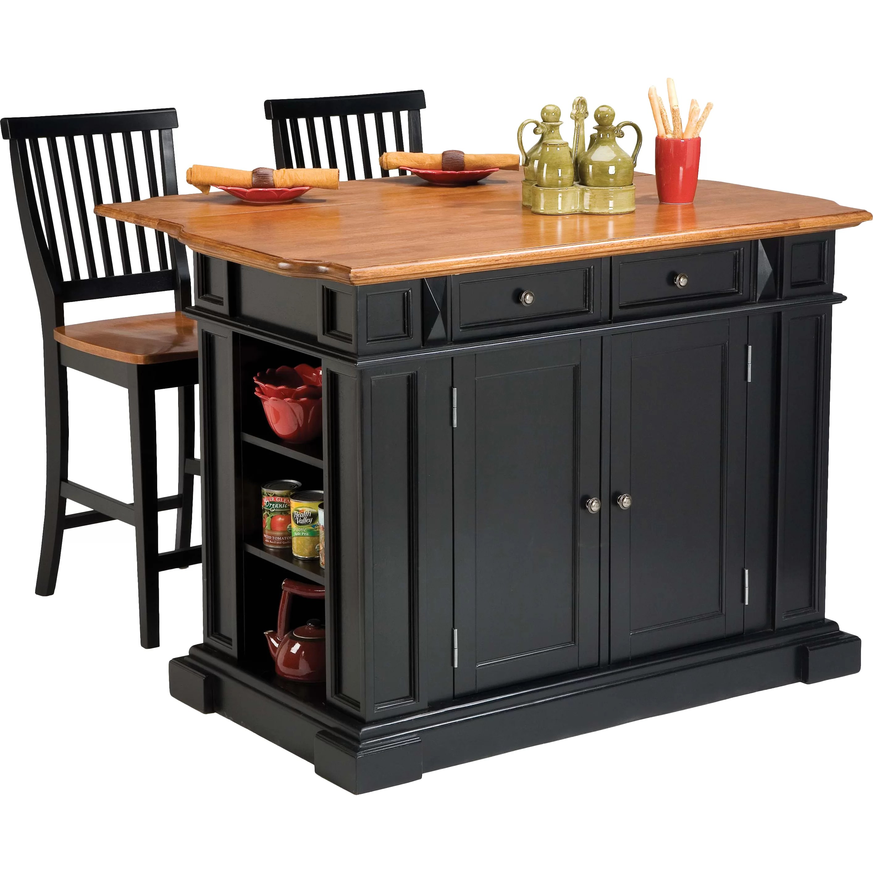 Darby Home Co Mattice 3 Piece Kitchen Island Set  Reviews