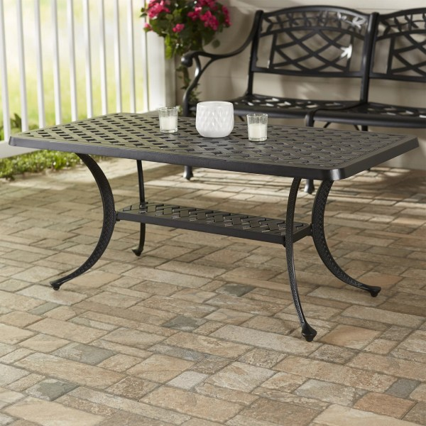Darby Home Lomax Cast Aluminum Rectangular Coffee Table