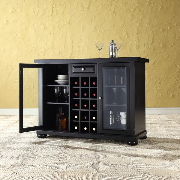 Darby Home Pottstown Bar Cabinet With Wine Storage