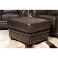 Darby Home Co Morgenstern Leather Armchair and Ottoman ...