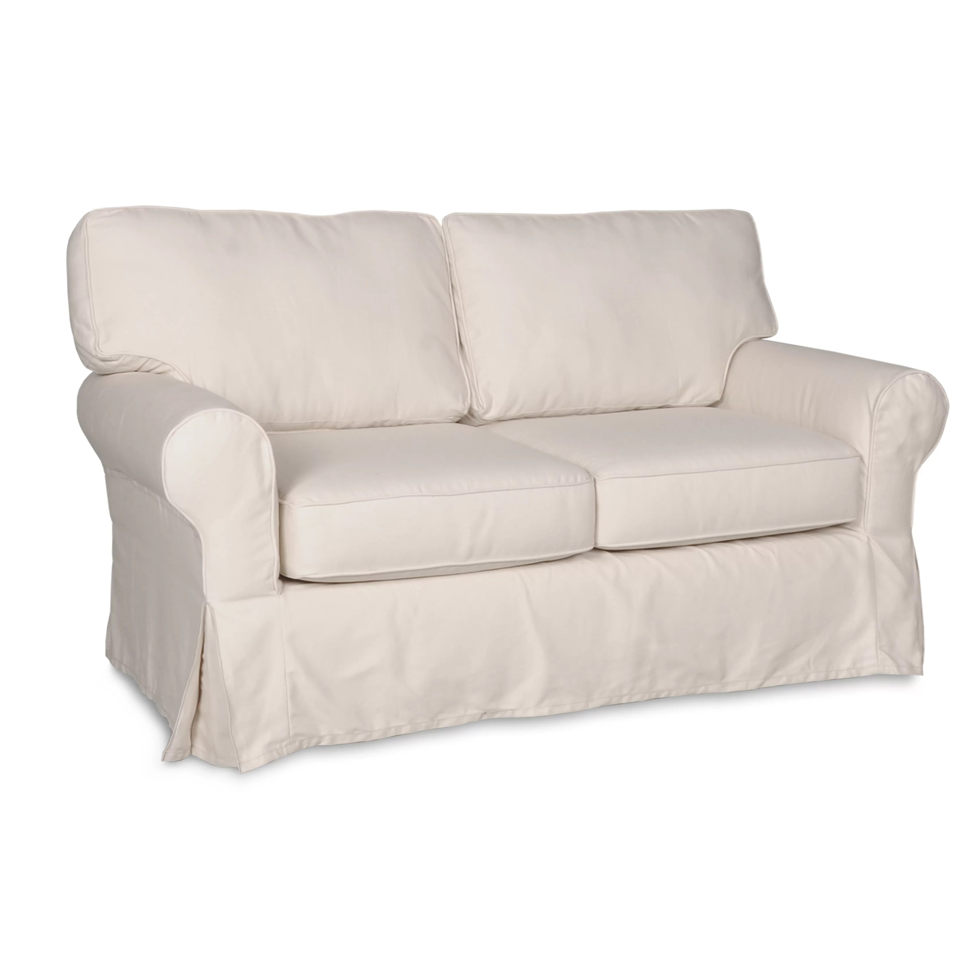 wayfair sofa covers cheap black rattan corner darby home co loveseat slipcover and reviews