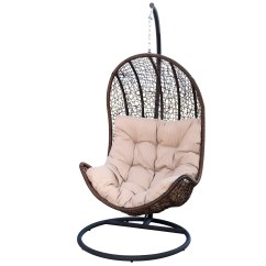 Egg Shaped Swing Chair Zero Gravity Replacement Fabric Darby Home Co Everson Eggshaped And Reviews