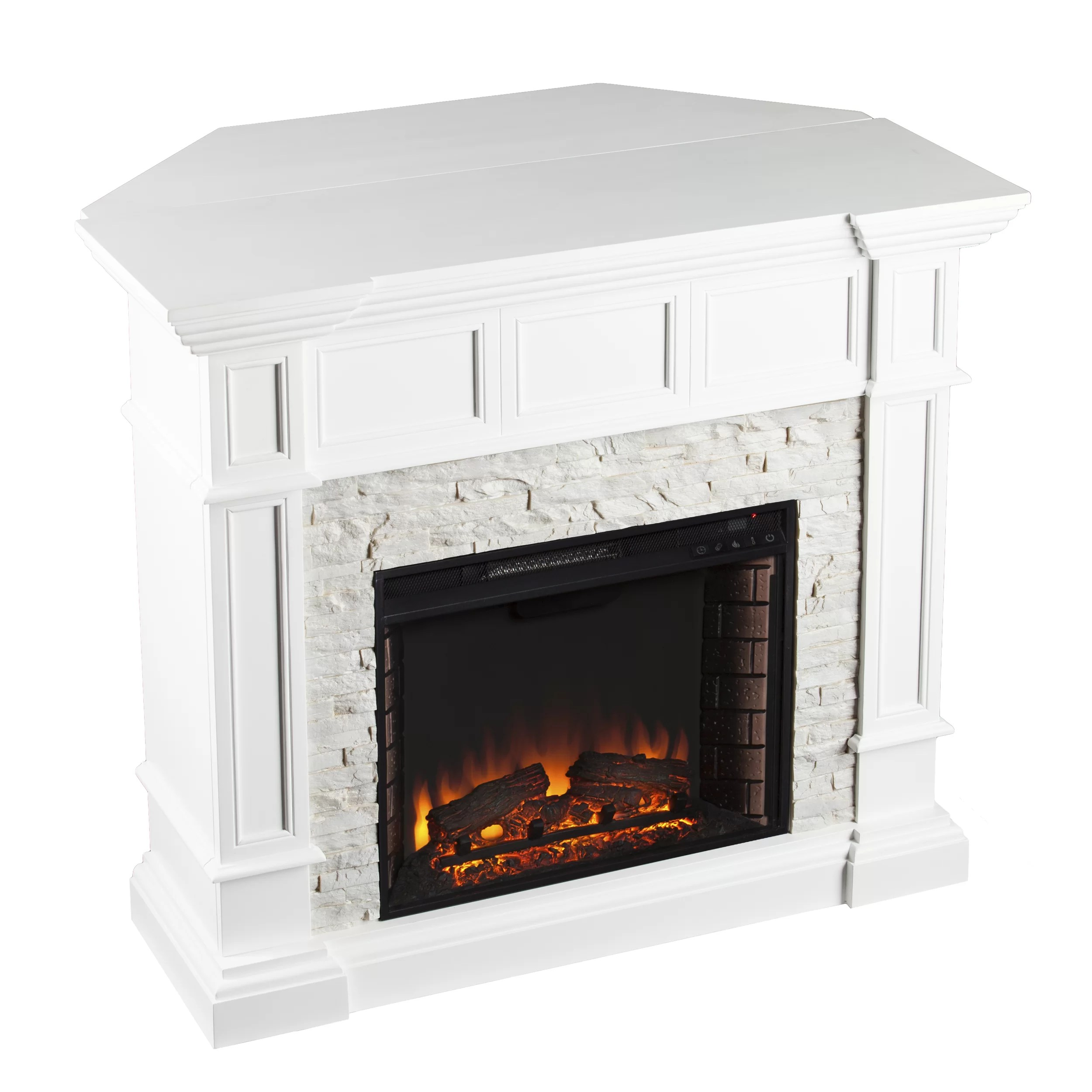 Darby Home Co Prussia Corner Convertible Electric Fireplace  Reviews  Wayfair