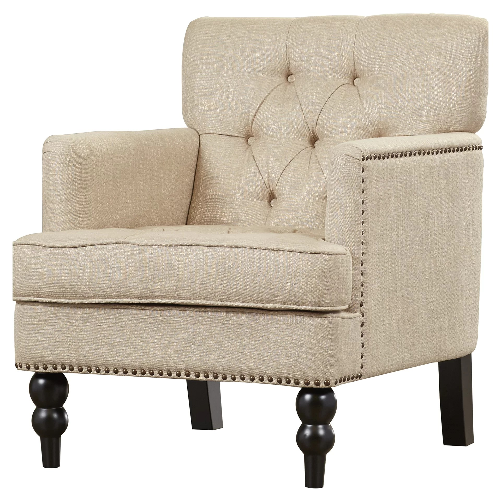 Upholstered Accent Chairs With Arms Alcott Hill Summerfield Tufted Upholstered Club Arm Chair