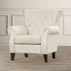 Upholstered Bedroom Chair With Arms Best Office Chairs For Back Pain In India Alcott Hill Jaymee Tufted Arm And Reviews