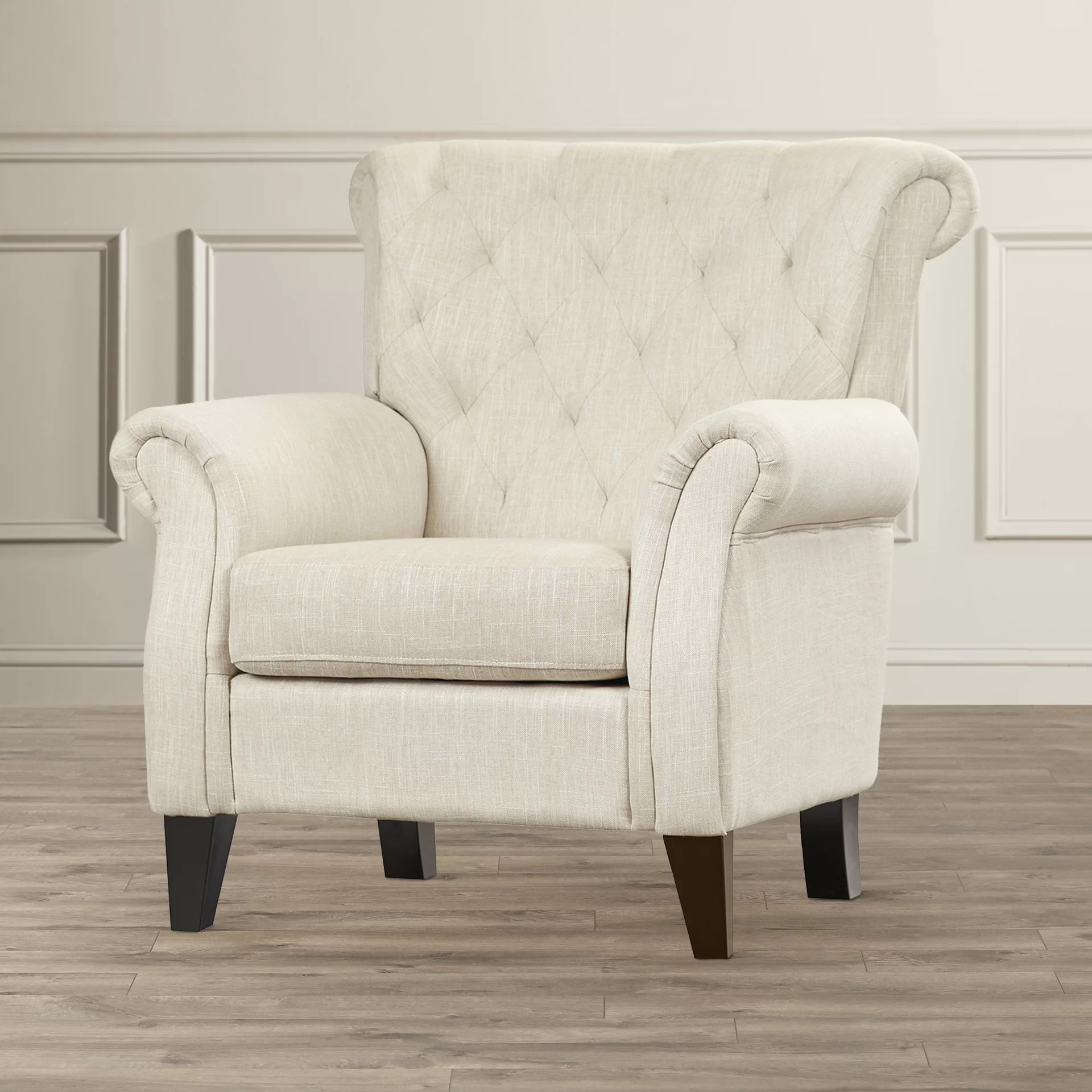 Upholstered Accent Chairs With Arms Alcott Hill Jaymee Tufted Upholstered Arm Chair And Reviews