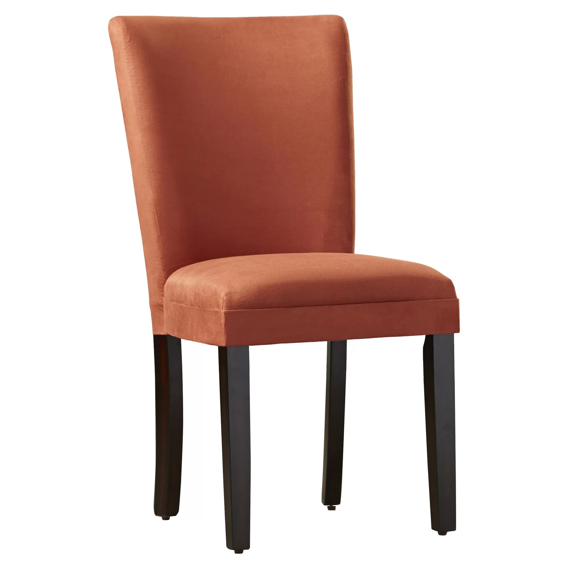 orange parsons chair modern design leather dining chairs home