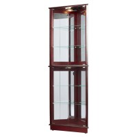 Charlton Home Lohmer Corner Curio Cabinet & Reviews | Wayfair