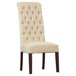 Tall Dining Chairs Outside Rocking Uk Charlton Home Estbury Tufted Upholstered Chair
