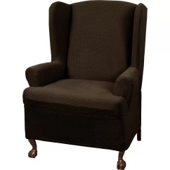 Slipcovers For Wingback Chairs With T Cushion Wooden Potty Chair Charlton Home Blissfield Stretch One Piece Wing
