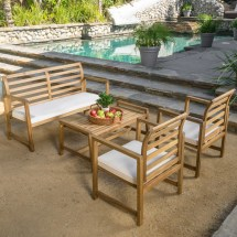 Brayden Studio Caffee 4 Piece Bench Seating Group With