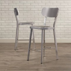 Steel Chair Size Target Metal Dining Chairs Brayden Studio Rizzuto Counter Height Stainless Side