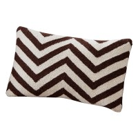 Brayden Studio Erebus Chevron Wool Throw Pillow   Wayfair