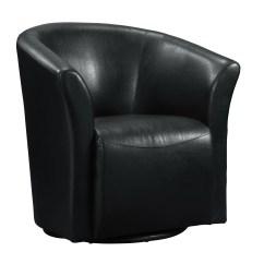 Black Barrel Chair Single Weather Twitter Wade Logan Elisha Swivel And Reviews Wayfair