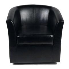 Leather Swivel Barrel Chair Wheelchair Brakes Wade Logan Blankenship Faux
