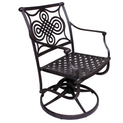 Swivel Patio Chair Table And 6 Chairs California Outdoor Designs Bermuda Rocker Dining