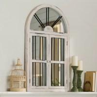 Lark Manor Lular Faux Window Wall Mirror & Reviews | Wayfair