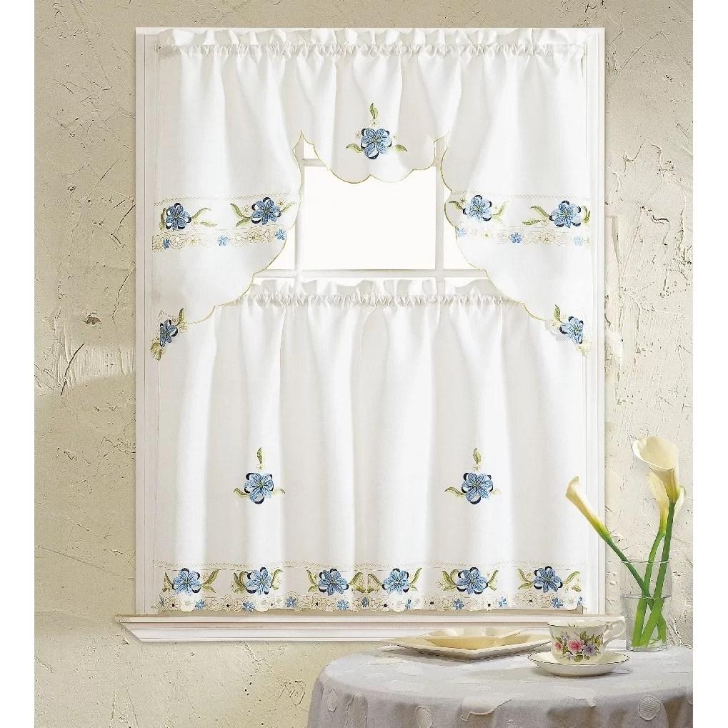 Daniels Bath Aster 3 Piece Kitchen Curtain Set  Reviews
