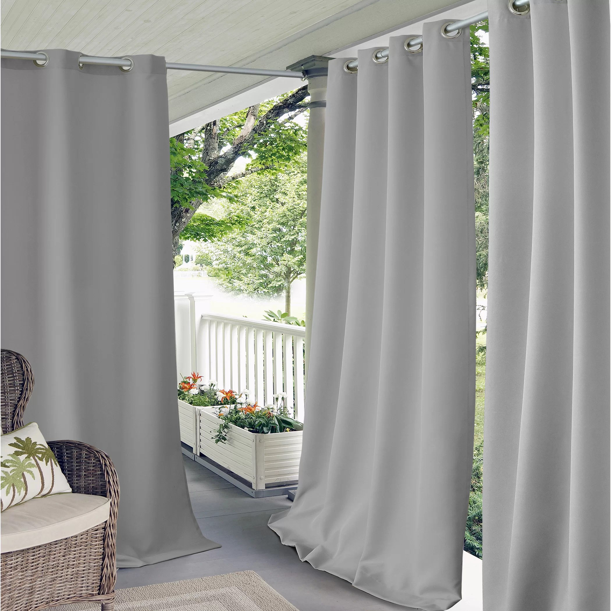 Elrene Home Fashions Connor IndoorOutdoor Curtain Panel  Wayfair