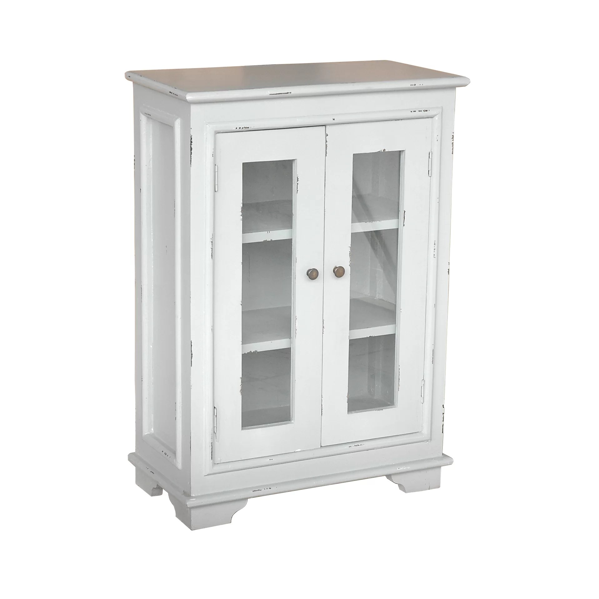 August Grove Olevia Sevilla Small Cabinet with Glass Door