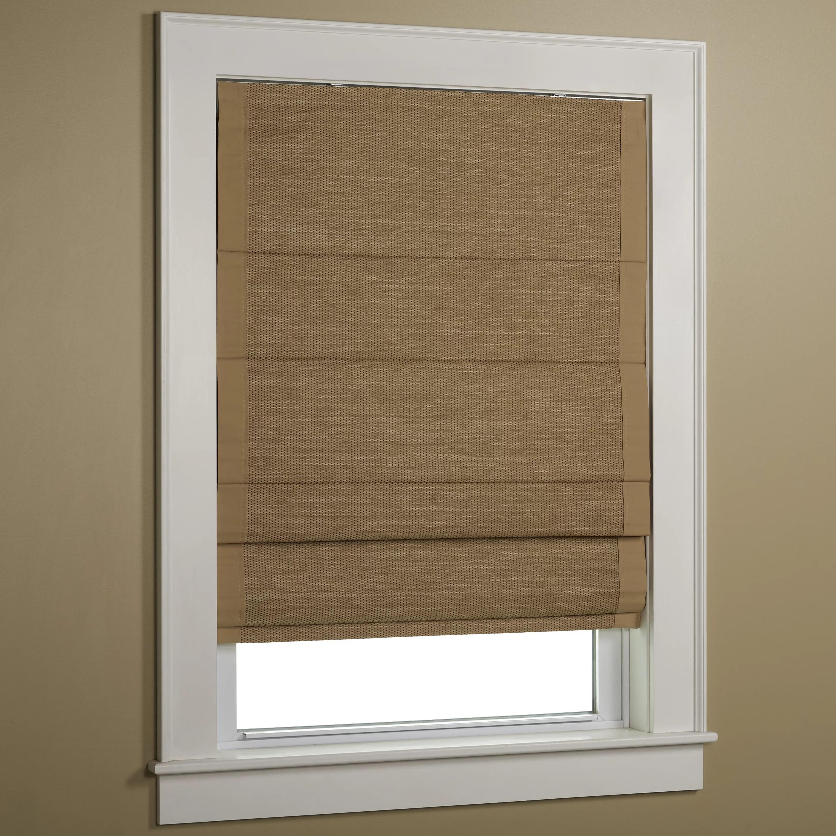 Beachcrest Home Woven Cane Paper Roman Shade & Reviews