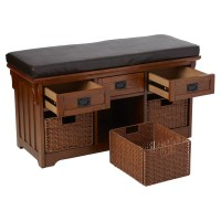 Loon Peak Hemlock Wooden Entryway Storage Bench & Reviews