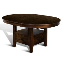 Loon Peak Birney Counter Height Extendable Dining Table ...