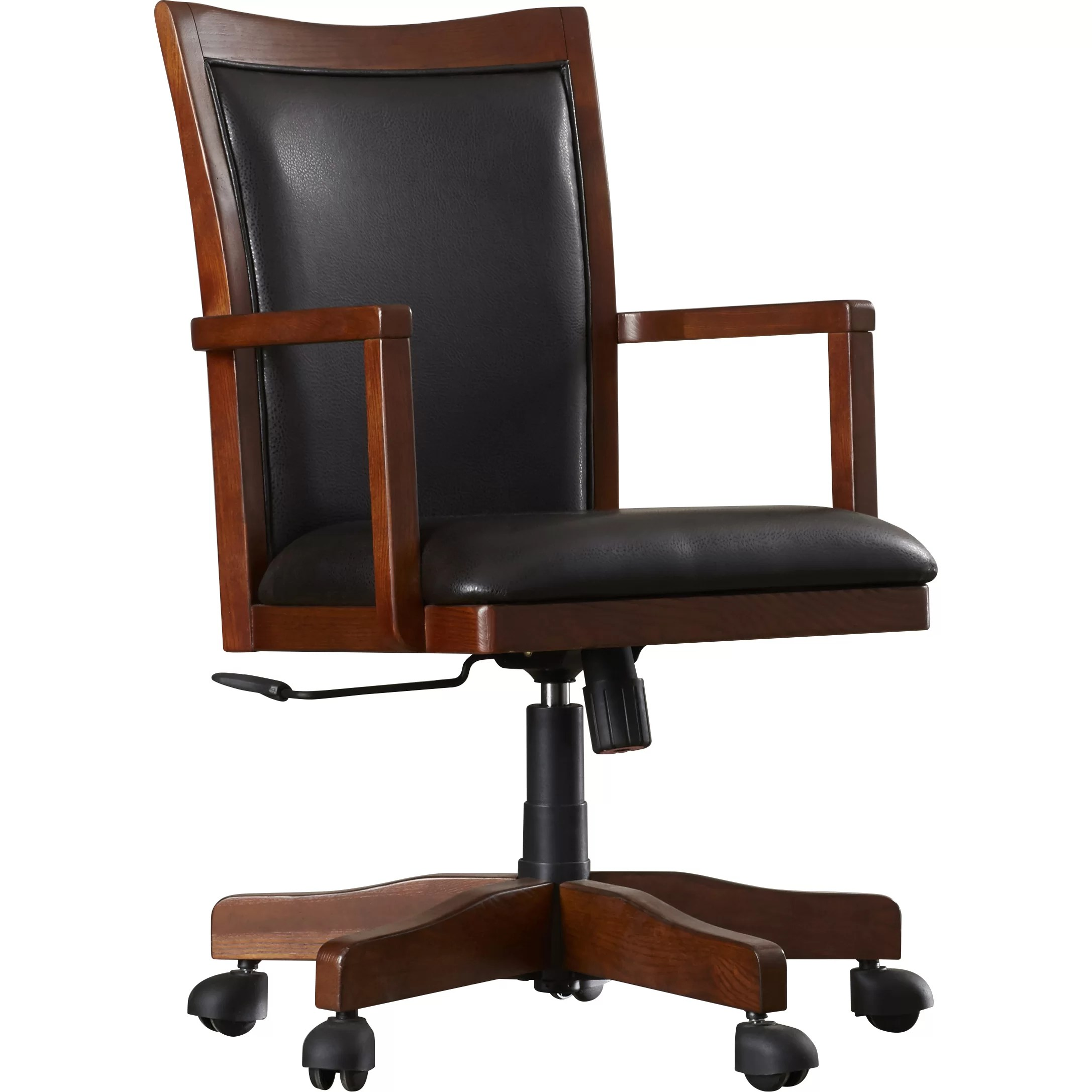 Office Chair With Arms Loon Peak Flagstaff High Back Executive Office Chair With