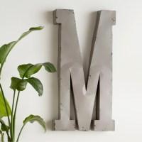 Trent Austin Design Alsatia Oversized Metal Letter Wall ...