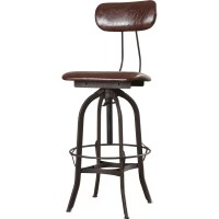 Trent Austin Design Adjustable Height Swivel Bar Stool