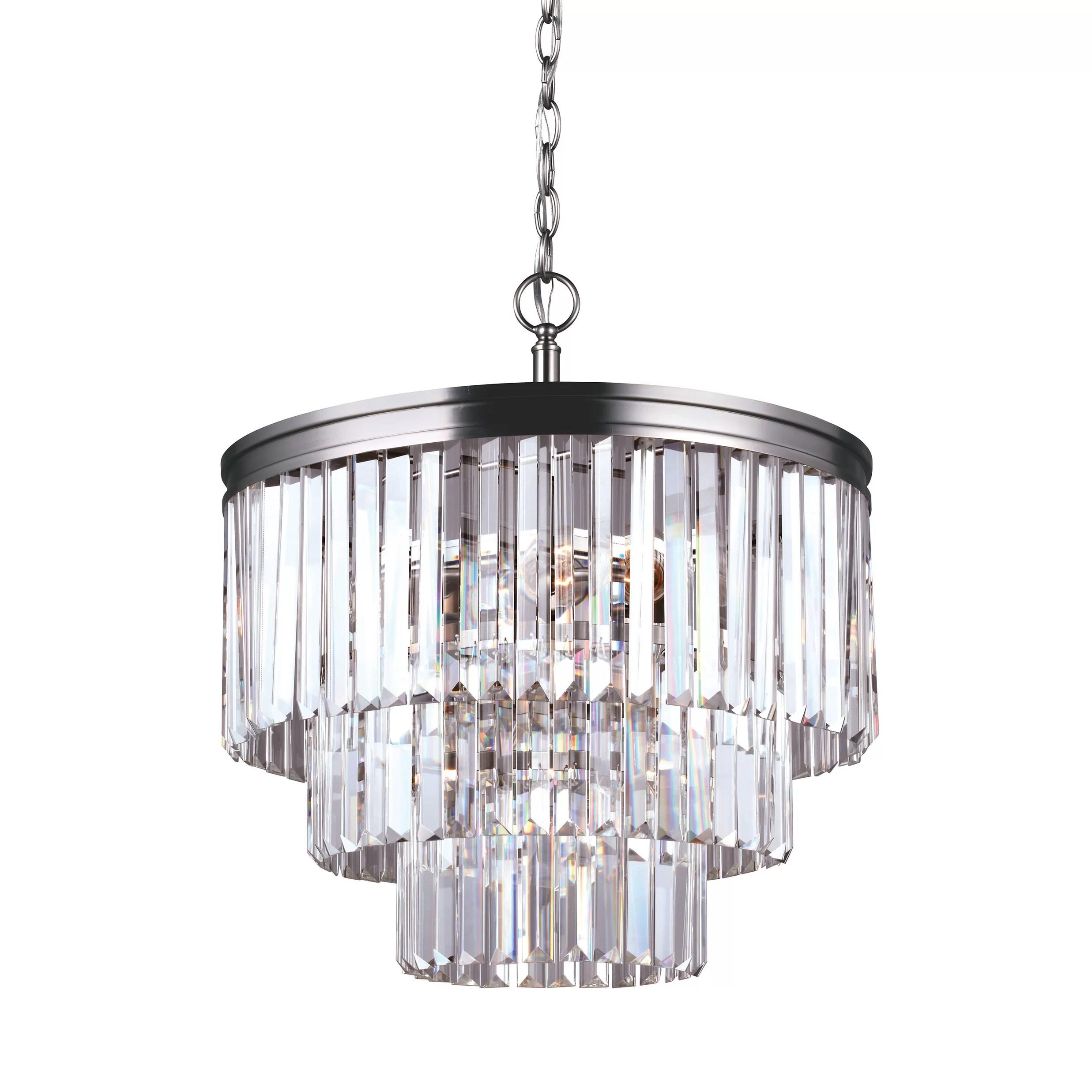 House Of Hampton Krenwik 4 Light Crystal Chandelier