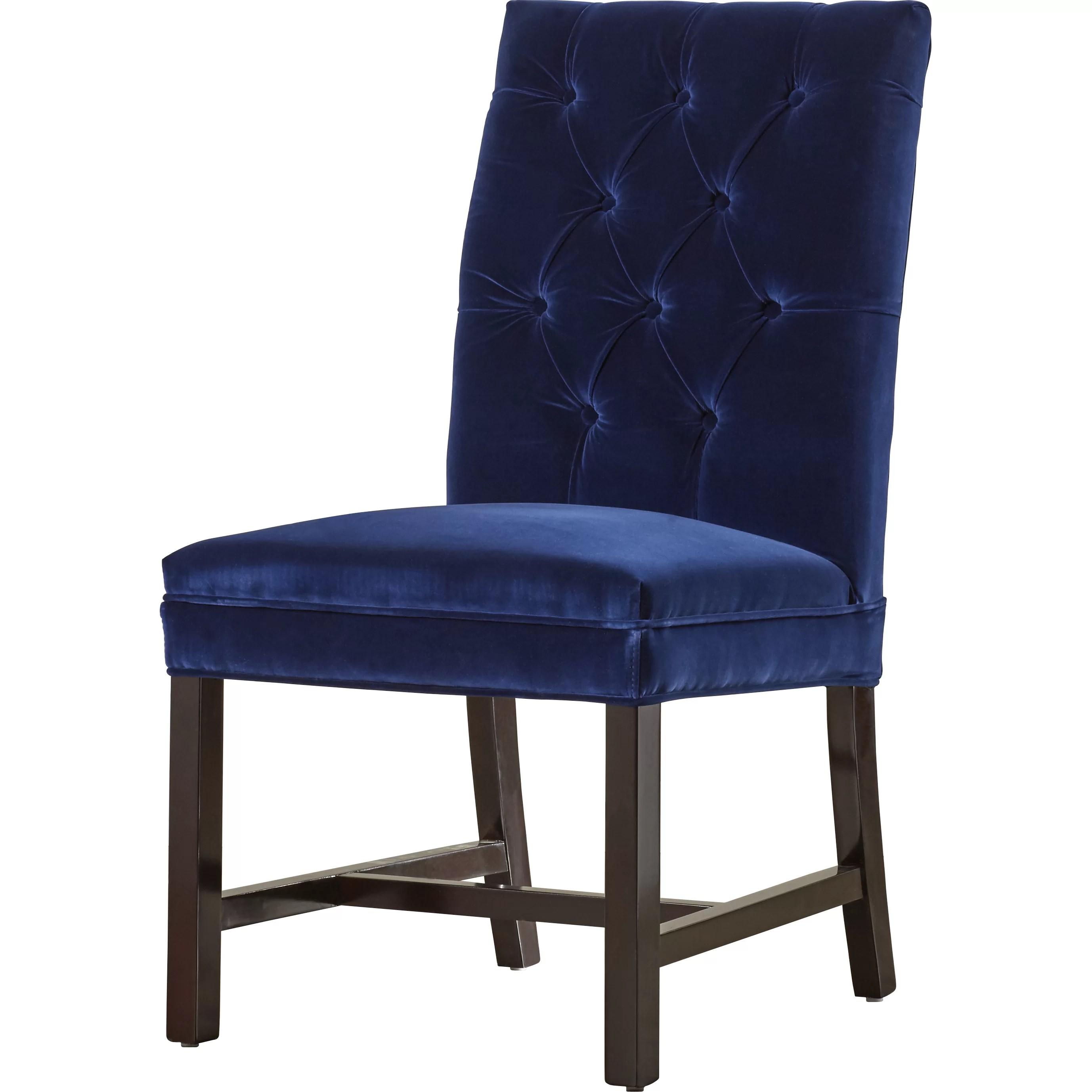 tufted side chair orange parsons house of hampton raunds wayfair